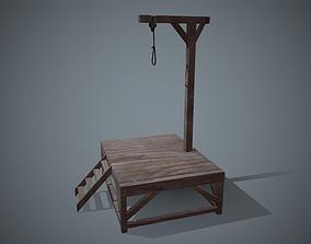 3D asset low-poly torture Gallows