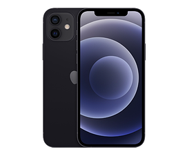 iPhone 12 - real dimensions 3D model iphone12