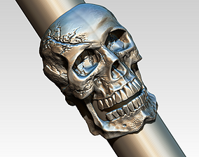 3D printable model silver Skull ring