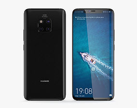 3D model Huawei Mate 20 Pro Black