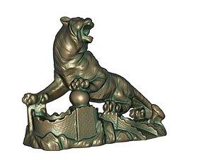 Tiger statue 3D print model