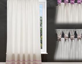 Curtain on garters 3D
