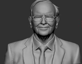 Warren Buffett Bust for 3d Printing