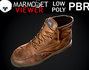 Red Wings Style Boots 3D model
