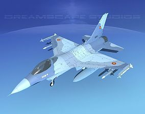 3D model Gen Dyn F-16A Falcon Romania