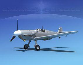 3D model Messerschmitt BF-109 Bare Metal