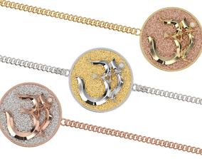om soul bracelet pendant 3D printable model