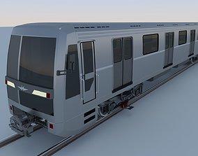 3D model realtime Yauza metro train
