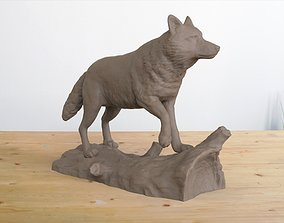 pet Wolf on Log 3D printable model