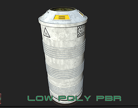 3D model low-poly Sci-Fi Container