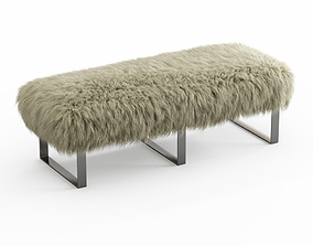 3D Mongolian Fur Bench