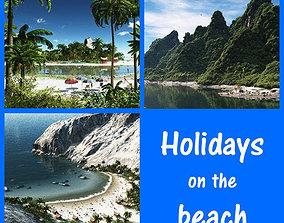 Holidays on the beach 3D model