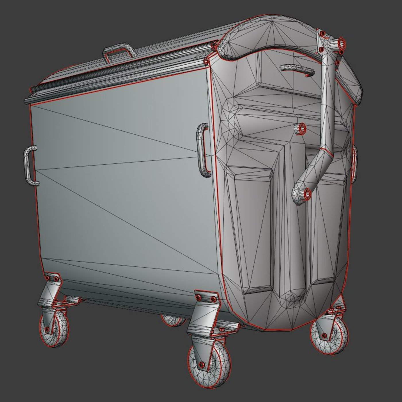 Old Metal Trash Container Re-Textured in Blender-2.831