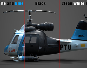 3D asset Low poly Game-ready cartoon Helicopter
