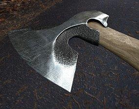 Blacksmiths axe 3D asset