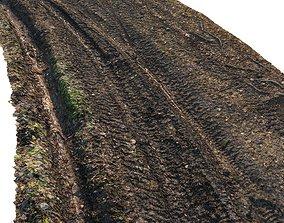 3D asset Dirt road material 04