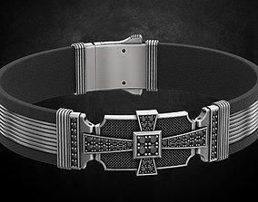 3D printable model Bracelet with stones cross under the 1