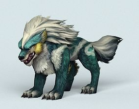 Fantasy Monster Warrior Wolf 3D asset