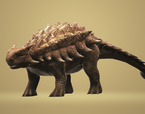 Ankylosaurus with Animation 3D model