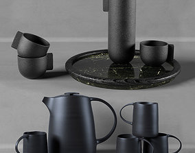 Kitchen set w002 dark 3D