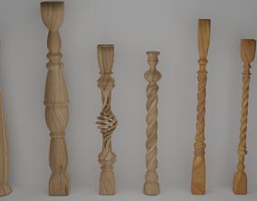 3D model wood Baluster