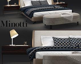 Minotti Spencer Bedroom set 3D model