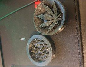 3D print model GRINDER LOGO MARIJUANA