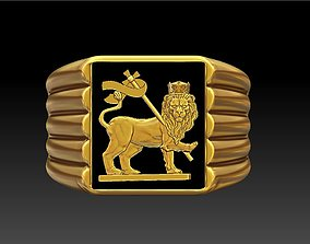 3D printable model Lion Flag Ring