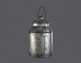 3D asset Old Milk Can Game Ready