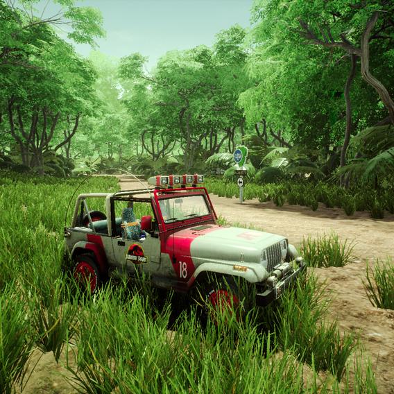 Jurassic Park Jeep Wrangler at Isla Nublar