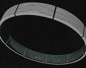 Village sized ring world 3D model VR / AR ready
