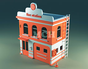3D model Fire Station