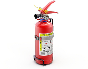 Car Fire Extinguisher 3D model