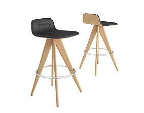 3D Torso 837-AI bar stool by Potocco