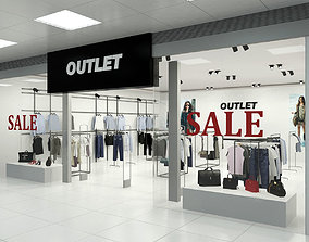 3D Fashion Store Outlet interior scene Render