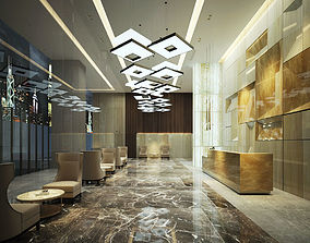 3D Hotel reception luxury