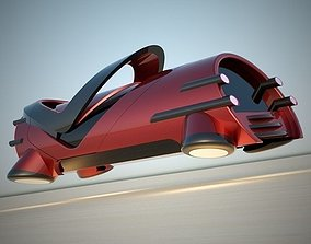 3D model Hover tube futuristic vehicle