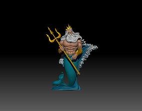 Fan Art King Triton - Disney Sculpture 3D print model