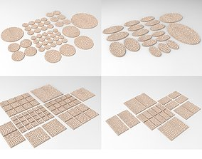 400 3D printable textured bases - trays - roads for 1