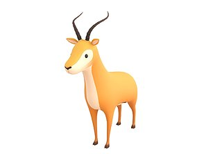 3D Cartoon Antelope