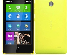 Nokia X X Plus Yellow 3D