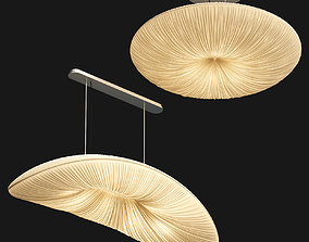 3D Lamps with folds Aqua light - 2 models