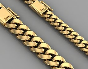 3D printable model Miami cuban link chain bracelet 0136