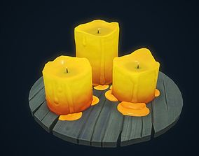 Candles stylized 3D model