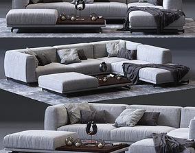DITRE ITALIA St Germain Corner Sofa 01 3D asset