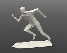 3D printable model Running man statue