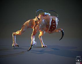 BioMech Alien Creature LowPoly 3D model