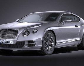 3D asset HQ LowPoly Bentley Continental GT Speed 2015