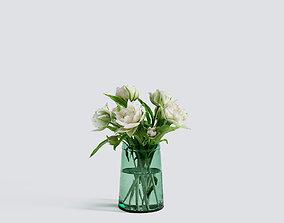 Recycled Glass Tulip Vase 3D model