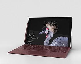 Microsoft Surface Pro 2017 Burgundy 3D